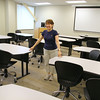 Anne Malkasian the director of dental education program for Mount Wachusett Community College show off the class room the students will using in the now open Fitchburg Family Health Center. SENTINEL & ENTERPRISE/JOHN LOVE