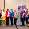 The Likelihood to Recommend Team receives an award from CEO and President Deborah Weymouth during the HealthAlliance Hospital Champions of Excellence Awards ceremony at the DoubleTree by Hilton Hotel on Wednesday. SENTINEL & ENTERPRISE / Ashley Green
