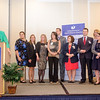 The Emergency Department Boarders Team receives an award from CEO and President Deborah Weymouth during the HealthAlliance Hospital Champions of Excellence Awards ceremony at the DoubleTree by Hilton Hotel on Wednesday. SENTINEL & ENTERPRISE / Ashley Green