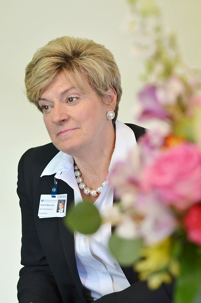 Debroah Weymouth, who has taken over as CEO at HealthAlliance this week, pictured in her office on Tuesday afternoon. SENTINEL & ENTERPRISE / Ashley Green