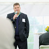 Joel Rusher the Vice President for Clinical Outreach for Sun Spire Health the parent company for Spring Hill Recovery Center in Ashby address' everyone that came to the one year anniversary luncheon on Thursday afternoon for Spring Hill. SENTINEL & ENTERPRISE/JOHN LOVE