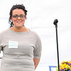 Amanda Kaelblein a former client of Spring Hill Recovery Center in Ashby talks about her one year sober at the one year anniversary luncheon on Thursday afternoon at the facility. SENTINEL & ENTERPRISE/JOHN LOVE