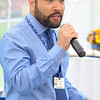 Director of Clinical Outreach for Spring Hill Recovery Center in Ashby Scottie Gage address' everyone that came to their one year anniversary luncheon on Thursday afternoon at the facility. SENTINEL & ENTERPRISE/JOHN LOVE