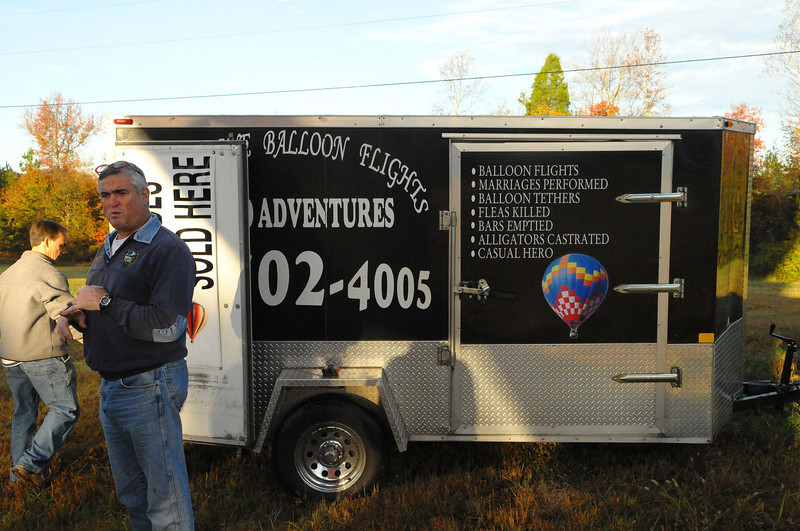 "And now...meet our balloon pilot and self-described ""Casual Hero"", Grant Aiello, of Orlando, Fl.   Grant's specialties, as enumerated on the trailer, go well beyond just hot air ballooning."