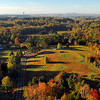 A grand view of the North Carolina countryside at peak leaf color, and a last look at our takeoff site.