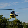 JBI Helicopter's new Bell Jet Ranger only 2 weeks old when this photo was taken at the Pittsfile Hot Air Balloon Rally
