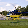 JBI Helicopter taking off at Pittsfield Hot Air Balloon Rally