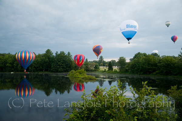 Morning Launch over the Suncook River