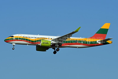 airBaltic's 2019 Lithuania flag livery