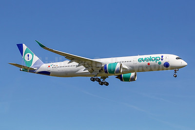 The first Airbus A350neo for Evelop
