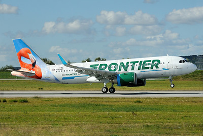 """Flo, the Flamingo"", Frontier's second Airbus A320neo"