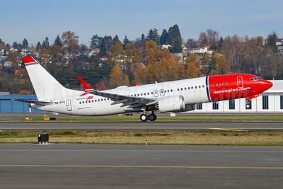 First MAX 8 for Norwegian Air Sweden, delivered November 20, 2018