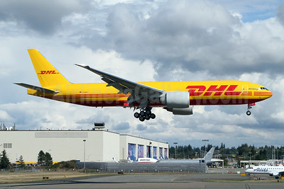 First AeroLogic 777F in DHL livery