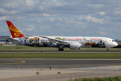 "Hainan Airlines' first ""Dreamworks Kung Fu Panda"" promotional livery, delivered on September 23, 2016"