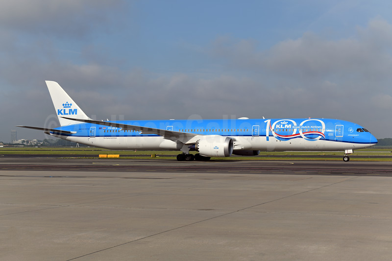 KLM's first 787-10, delivered June 29, 2019, celebrating 100 Years