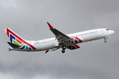 Enerjet's third MAX 8 in the new 2020 livery