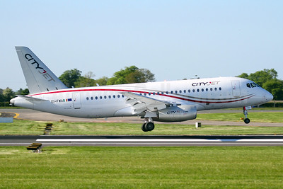 CityJet's first Sukhoi Superjet 100, delivered on June 2, 2016