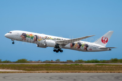 Arashi special livery to honor Arashi's 20th anniversary - May 22, 2019 was the first day that this livery was launched from NRT to HNL as JAL782
