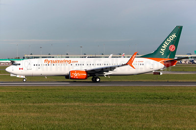 Sunwing Airlines' 2016 Jameson promotional livery