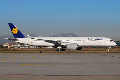 Lufthansa's first Airbus A350-900, delivered December 21, 2016