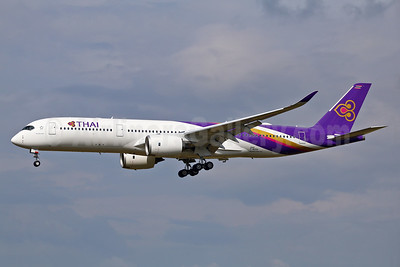 First Thai Airbus A350-900 on its first flight on July 22, 2016