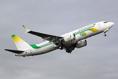 """First MAX 8, named """"Awkar"""", first flight flight on December 7, 2017"""