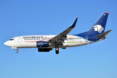 AeroMexico Boeing 737-752 WL XA-GMV (msn 35118) (Los Cabos - Dos Mares-Un Paraiso - Two Seas, One Paradise) MIA (Bruce Drum). Image: 103339.