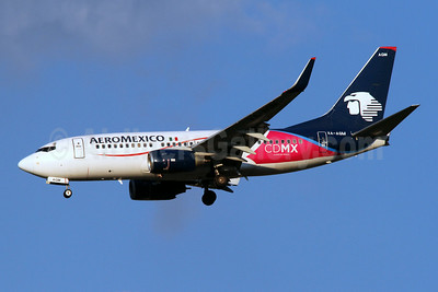 "Promotional ""CDMX - Ciudad de Mexico"" markings for AeroMexico's base city"