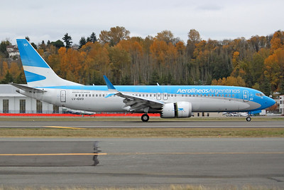 The first Boeing 737-8 MAX 8 for Aerolineas Argentinas, delivered on November 22, 2017