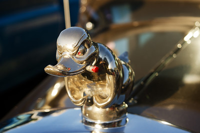 """Death Proof Duck"" Hot Rod Hood Ornament"