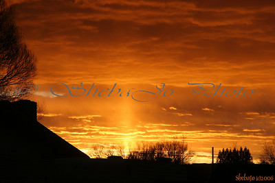 Sun Pillar at sunset