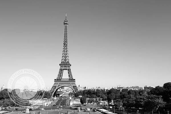Paris Eiffel Tower from across the river