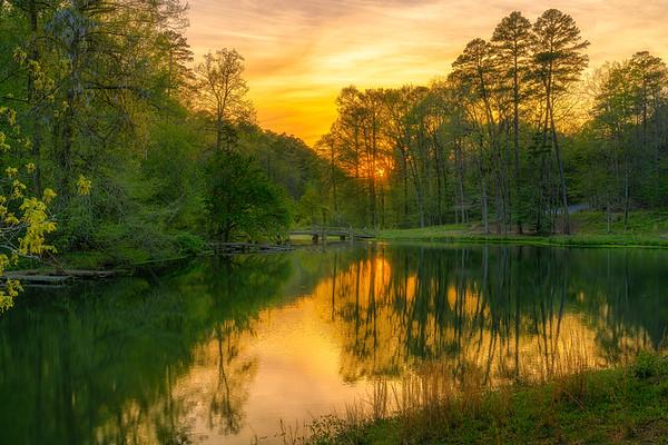 Ricks Pond Sunset
