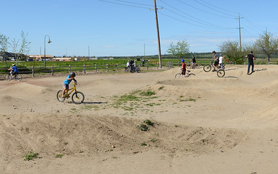 Kids ride at the pump track Friday, March 25, 2016, at Wildwood Park in Chico, California. (Dan Reidel -- Enterprise-Record)