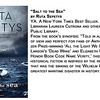 """Salt to the Sea"" by Ruta Sepetys<br /> YA. A New York Times Best Seller. Recommended by Librarian Laureen Cutrona and others at the Townsend Public Library.<br /> From the book's synopsis: ""Told in alternating points of view and perfect for fans of Anthony Doerr's Pulitzer Prize-winning 'All the Light We Cannot See,' Erik Larson's 'Dead Wake' and Elizabeth Wein's 'Printz Honor Book Code Name Verity,' this masterful work of historical fiction is inspired by the real-life tragedy that was the sinking of the Wilhelm Gustloff—the greatest maritime disaster in history."""