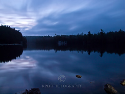 Rockwood Conservation Area very long exposure photograph showing cloud movement and reflections in the water