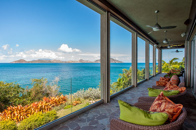 Views of St. Kitts from a spectacular Cottage in Nevis