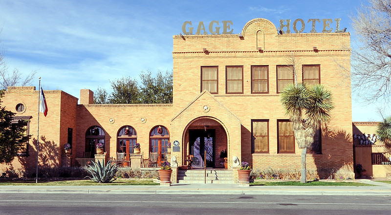 The Gage Hotel, Marathon TX. A great place to stay and dine. Close to Big Bend National Park.