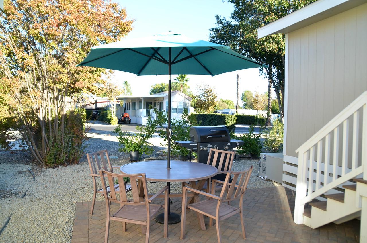 resort cottage, Golden Village Palms RV Resort, Hemet, San Jacinto, rv park, tiny house, Traveling Well For Less