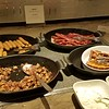 part of the final day breakfast offerings at the Grand Hyatt lounge