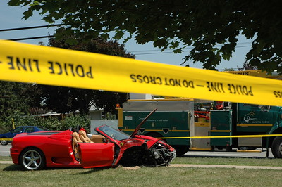 Ferrari F360 Spyder Crash in Toronto, Canada