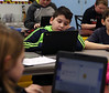HOLLY PELCZYNSKI - BENNINGTON BANNER Fifth grader, Jacob George learns coding on Tuesday morning while in class at Pownal Elementary School in Pownal Vermont.