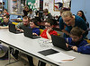 HOLLY PELCZYNSKI - BENNINGTON BANNER Students in Mr. Robinson's fifth grade class learn coding during the hour of code on Tuesday morning at Pownal Elementary School.