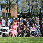 A large crowd turned out on a beautiful sunny afternoon to witness The Interface House Blessing and Ribbon Cutting at the Hildegard House.