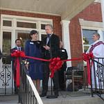 Hildegard House Executive Director Karen Cassidy received a proclamation from Mayor Greg Fischer.