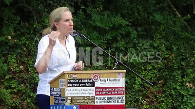 Abigail Spanberger speaks at rallies in Orange and Louisa counties