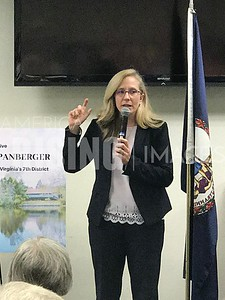 Abigail Spanberger at Town Hall in Locust Grove, VA