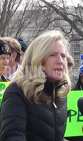 Abigail Spanberger Speaks At The NTEU Rally On Capitol Hill In Washington, DC