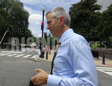 Anthony Brindisi Walking Around Capitol In Washington, DC