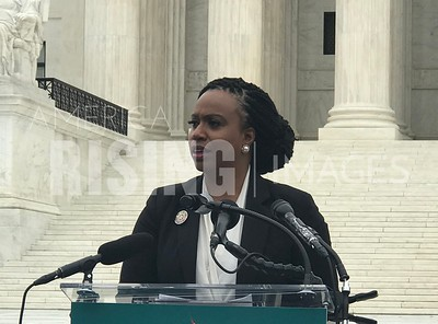 Bre Kidman, Ayanna Pressley, and protesters at Kavanaugh One Year Anniversary in Washington, DC